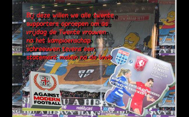 Oproep: Kom allen naar kampioenswedstrijd PEC - Twente vrouwen